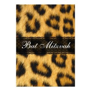 Nothing says Bat Mitzvah like cheetah print.