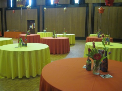 The room looked much better once it was completely set up, but we couldn't take pictures because it was Shabbat.