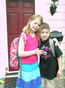 First day of school in New Jersey - 2009