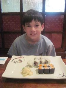 He chose sushi