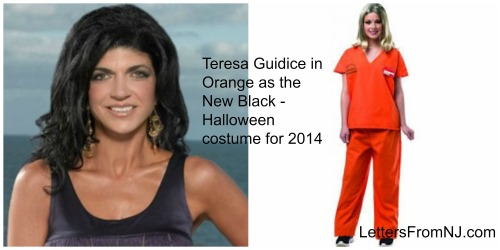 You'll be the hit of the party dressing as Teresa in prison garb
