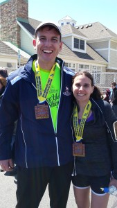 Training partners, Carrie finished in 4 hours 33 minutes