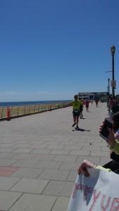 Mark heading toward the finish
