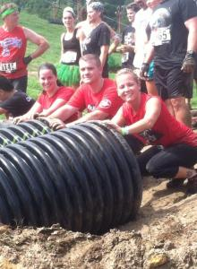 The tube crawls. Photo courtesy of Rugged Maniac.