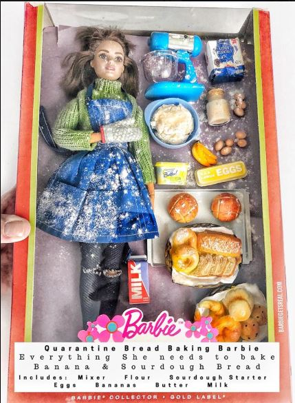 quarantine baking barbie