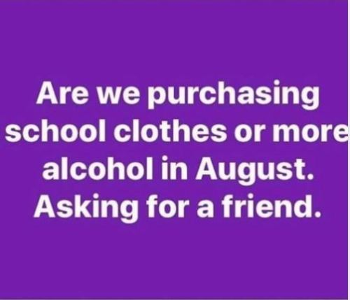 clothes or alcohol